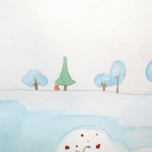 Sulu Boya İle Kış Resmi Nasıl Çizilir ? 7