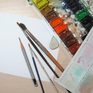 Sulu Boya İle Kış Resmi Nasıl Çizilir ? 8