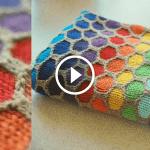 Videolu Bal Peteği Örgü Modeli 1