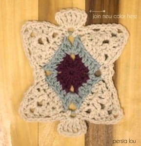 Vintage Kare Örgü Bebek Battaniyesi Yapılışı 10