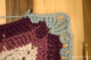 Vintage Kare Örgü Bebek Battaniyesi Yapılışı 1