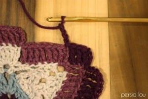 Vintage Kare Örgü Bebek Battaniyesi Yapılışı 3