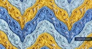 Çiçekli Zikzak Bebek Battaniyesi Yapılışı 12