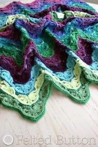 Çiçekli Zikzak Bebek Battaniyesi Yapılışı 13