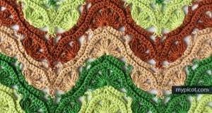 Çiçekli Zikzak Bebek Battaniyesi Yapılışı 14