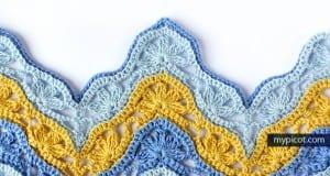 Çiçekli Zikzak Bebek Battaniyesi Yapılışı 17