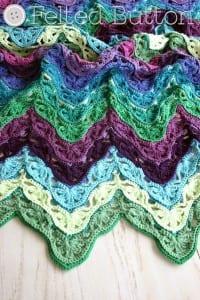 Çiçekli Zikzak Bebek Battaniyesi Yapılışı 19