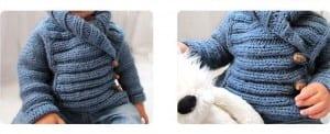 Erkek Çocuk Örgü Hırka Modeli Yapılışı 3