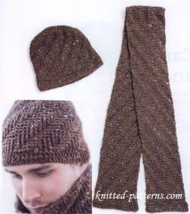 Erkek Örgü Atkı ve Şapka Yapılışı 2