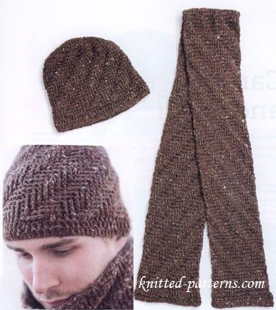 Free Knitting Pattern For Hat Scarf Combo : Erkek orgu Atki ve sapka Yapilisi - Mimuu.com