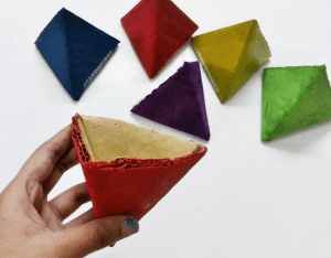Karton Origami Organizer Yapılışı 1