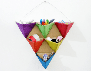 Karton Origami Organizer Yapılışı 5