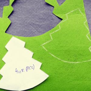 Keçeden Çam Ağacı Yapılışı 15