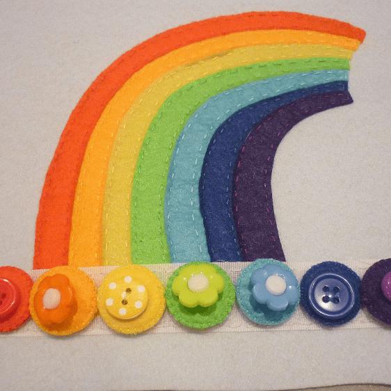 Montessori Gökkuşağı Renkleri öğrenme Oyunu Mimuucom