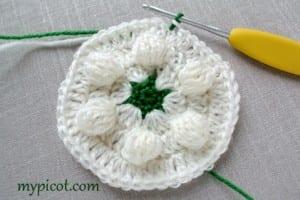 Motifli Kar Tanesi Bebek Battaniyesi Yapılışı 19