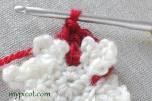 Motifli Kar Tanesi Bebek Battaniyesi Yapılışı 3