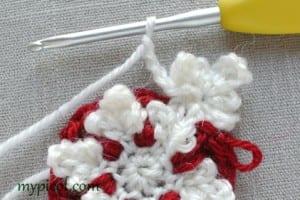Motifli Kar Tanesi Bebek Battaniyesi Yapılışı 5