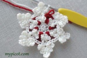 Motifli Kar Tanesi Bebek Battaniyesi Yapılışı 6