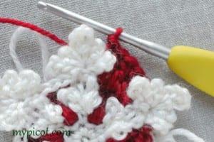 Motifli Kar Tanesi Bebek Battaniyesi Yapılışı 7