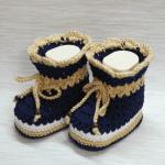 Tığ İşi Bebek Patik Modeli Yapılışı 16