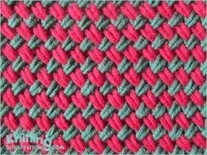 Videolu İki Renkli Diyagonal Örgü Modeli