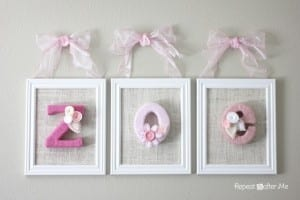 Bebek Odası İçin İsim Süsleme Yapılışı 3