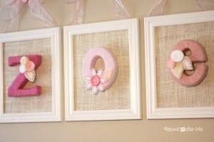 Bebek Odası İçin İsim Süsleme Yapılışı 4