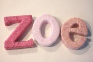 Bebek Odası İçin İsim Süsleme Yapılışı 7
