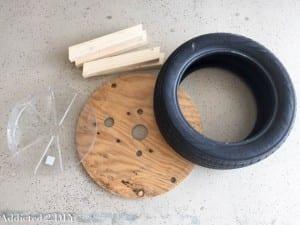 DIY, Araba Lastiğinden Saksı Yapılışı 3