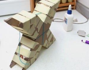 DIY, Karton Kutudan Harf Yapılışı