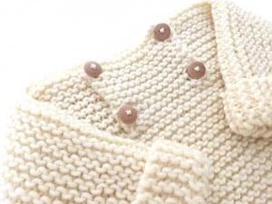 Düğmeli Bebek Kazak Modeli Yapılışı