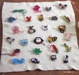 Hayvan Aplikeli Bebek Battaniyesi Yapılışı 17