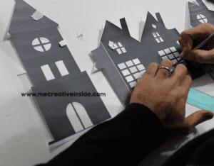 Kağıttan Işıklı Duvar Süsü Yapılışı 5