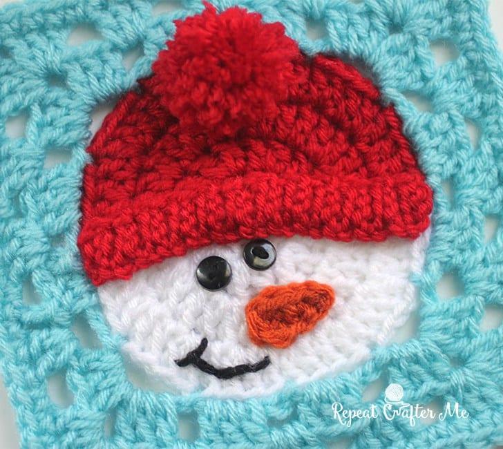 Kardan Adam Motifli Bebek Battaniyesi Yapılışı 1