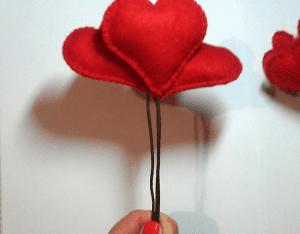 Keçe Kalp Demeti Yapılışı 12