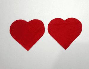 Keçe Kalp Demeti Yapılışı 6