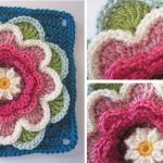 Nilüfer Çiçeği Motifli Bebek Battaniyesi Yapılışı 27