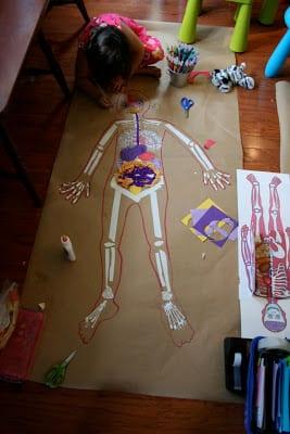 Okul öncesi Vücudumuz Sanat Etkinlikleri Mimuucom