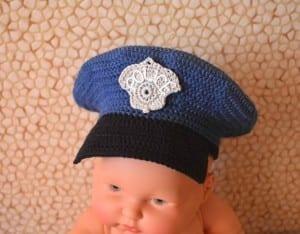 Örgü Polis Şapkası Nasıl Yapılır ? 18