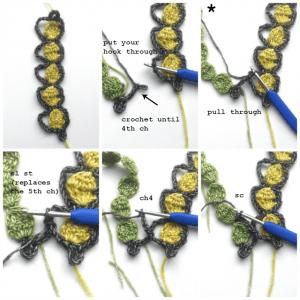 Şeker Örgü Modeli Şal Yapılışı 9