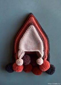 Tunus İşi Diyagonal Örgü Şapka Yapılışı 1
