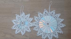 CD den Örgü Kar Tanesi Nasıl Yapılır?