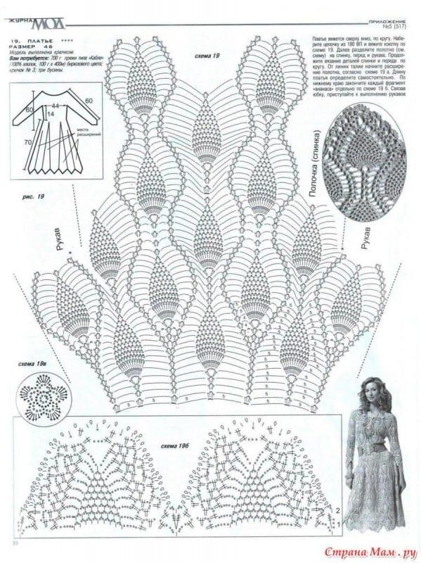 Badem Örgü Modeli Elbise Yapılışı 11