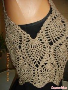 Badem Örgü Modeli Elbise Yapılışı 20