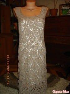 Badem Örgü Modeli Elbise Yapılışı 21
