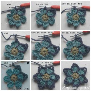 Bahar Çiçekleri Şal Modeli Yapılışı 5