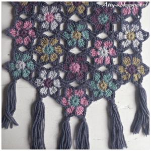 Bahar Çiçekleri Şal Modeli Yapılışı 6