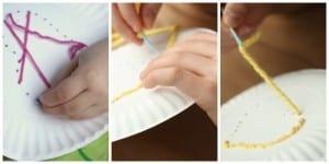 Çocuklar İçin Kağıt Tabak İplik Dokuma Etkinliği 2