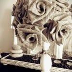 DIY, Çuval Bezinden Top Çiçek Yapılışı 10