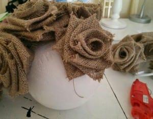 DIY, Çuval Bezinden Top Çiçek Yapılışı 1